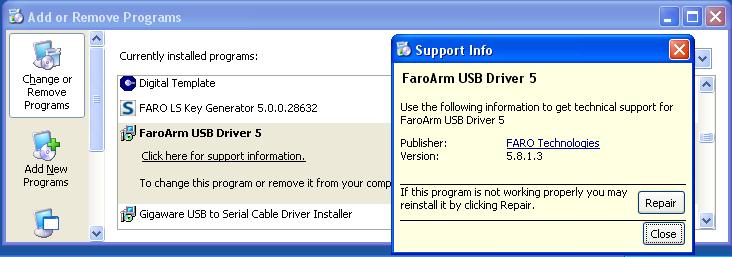 XP 控制面板驱动程序版本号