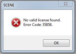 SCENE 许可证错误 35858